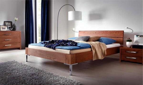Wasserbett oder Gelbett komplett Oakline mit Alpa Kopfteil inkl. Sina Füße