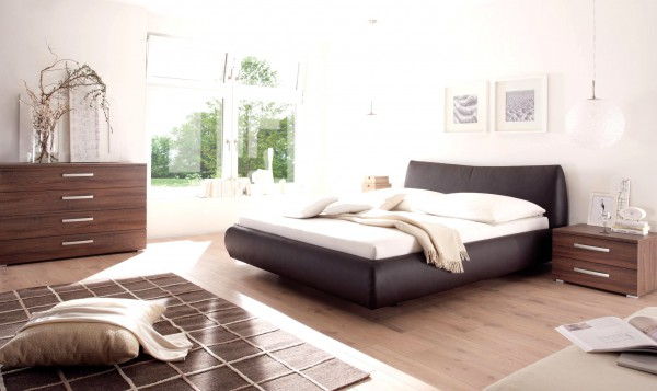 Wasserbett oder Gelbett komplett Dream Line Deluxe mit Rivoli Kopfteil inkl. Vilo Füße