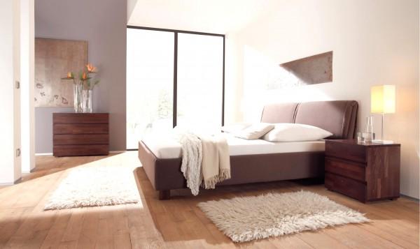 Wasserbett oder Gelbett komplett Dream Line Deluxe mit Riposo Kopfteil inkl. Iveo Füße